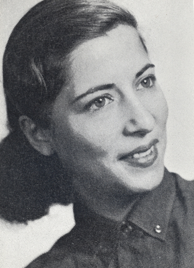 The Columbia Law School yearbook portrait of Ruth Bader Ginsburg, who graduated tied for first in the Class of 1959. Courtesy Columbia Law School.